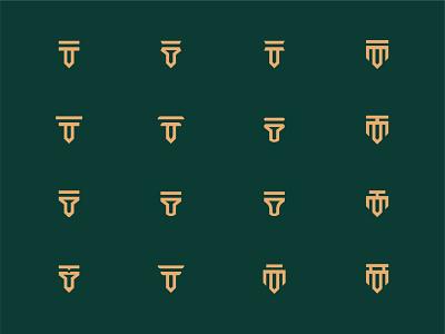 Logo Marks brand identity design logodesign logotype graphicdesign logos logo design logo logo options brand mark logo mark logo marks unused logo marks logo option teronpaul logo marks