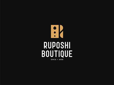 Ruposhi Boutique mark design abstract logo lettermark branding design logo design logotype graphicdesign design logo boutiques brand branding logo desing boutique logo design store brand shopping store logo boutique logo