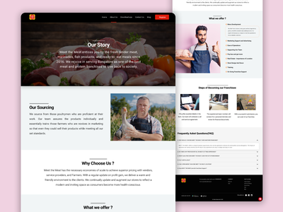 MeetTheMeat About Us Landing Page branding meat website landingpage design ui
