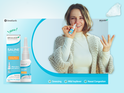 NASAL Spray Ads ads banner ads graphic design branding