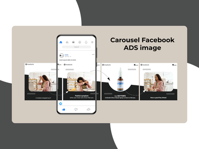 Carousel for Facebook ads carousel carousel ads ads branding graphic design design