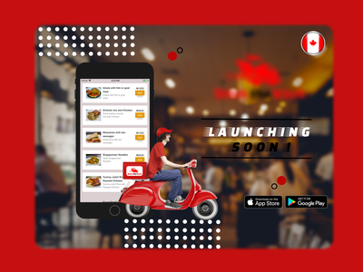 FOOD DELIEVERY APP LAUNCHING SOON ADS graphic design design ads banner ads branding
