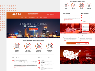 IT-Service Website Design. design website ux landingpage ui