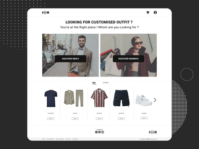 Shopping website Landing page. shopping website ux design website landingpage ui