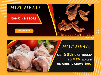 Website Food offer Banner. banner website banner ads ads banner design graphic design ads branding