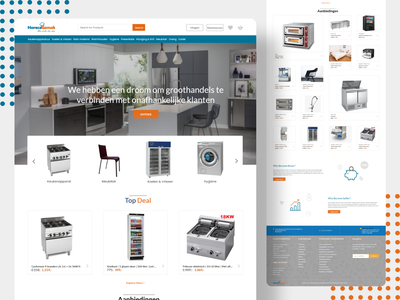 Kitchen Appliance website Landing Page. design landingpage ui website