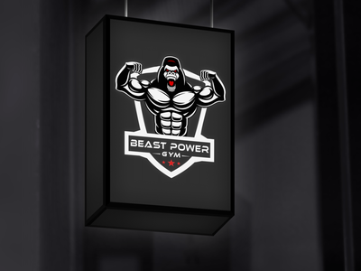 Beast Gym Logo Design beast typogaphy design vector graphic design logo