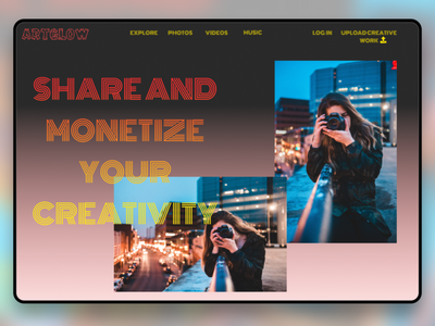 Creativity Website UI concept web design website design ux design uidesign ui  ux webdesign ux web ui design