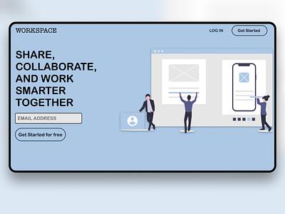 WorkSpace website design web illustration webdesign ux design ux ui  ux uidesign ui design