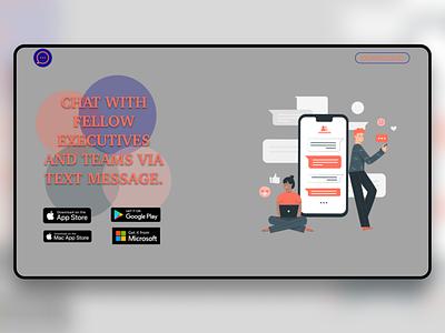 Business chat app webdesign web ux design ux ui  ux uidesign ui design app design app