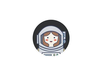 Space Cadet Avatar person girl space illustration self portrait avatar space cadet astronaut