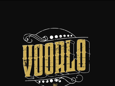 voorlo brand typography logo illustration vector design