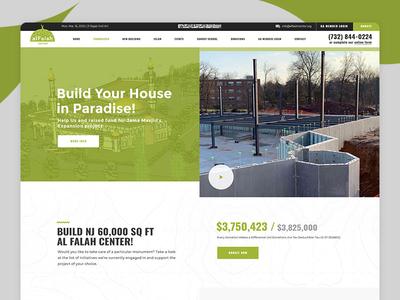 Alflah Center Landing ui  ux ui design web design