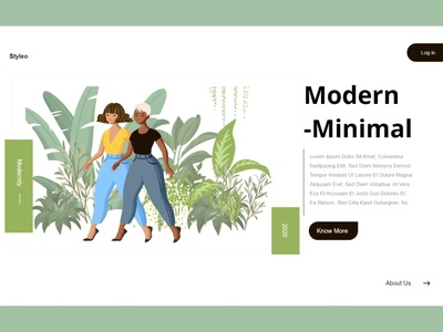 Minimal landing web ui branding ux ui website template minimal website design