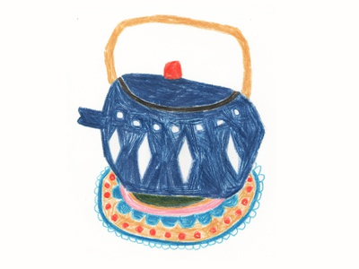 Teapot teapot illustration colorful handmade