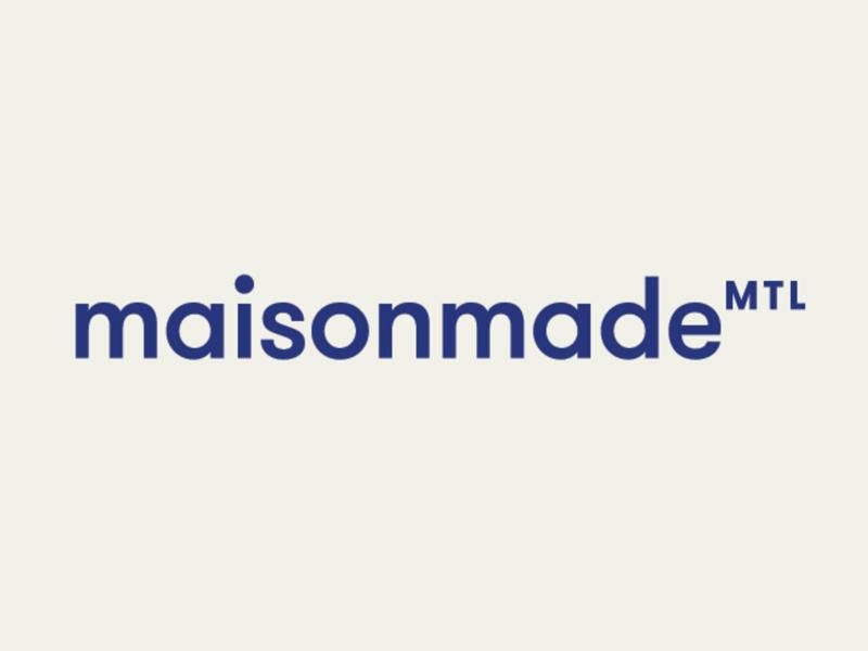 Maisonmade Logotype modern purple branding montreal wordmark identity brand logo