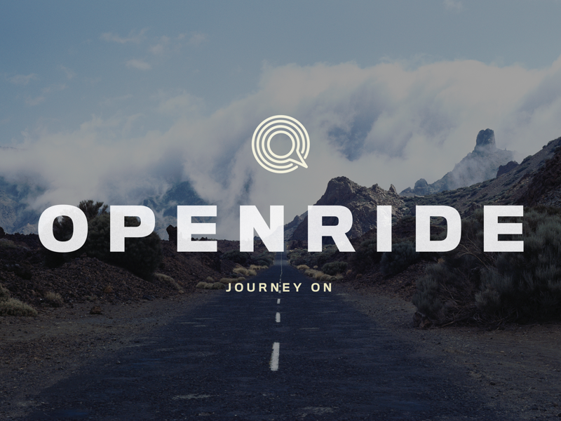 Logo for Openride marketplace travel car branding brand identity on-demand ridesharing startup