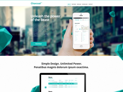 Charcoal CMS Landing Page