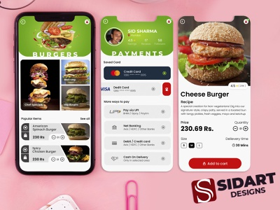Burger Food App icon website web illustrator animation sketch app design figmadesign uxdesign uxui burger app logo ui graphic design design branding