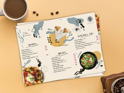 SecondHome Restauran Menu menu restaurant food illustraion ux ui vector logo app animation website illustrator design branding