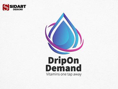 DripDemand Logo minimal logotype illustration ui vector logo graphic design website illustrator design branding