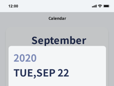 Calendar design calendar