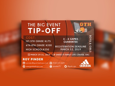 GTH (TBE Tip-off flyer design logo illustration banner design banner vector branding illustrator photoshop design
