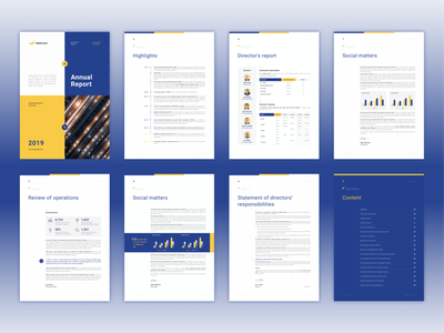 Layouts for Financial Report simple report design clean design a4 size finance corporate design infographics data visualization business presentation financials annual report design annual report