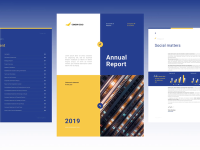 Annual Outlook (A4 presentation) reports and data annual report design animation a4 information design annualreport financials investor deck