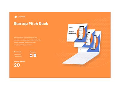 Startup pitch deck case study flat design pptx colorful modern design keynote presentation vc venture capital layout exploration pitchdeck startups business presentation investor deck presentation design