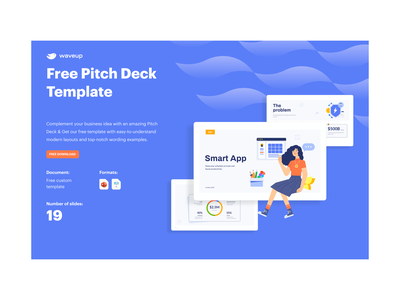 Free Pitch Deck Template powerpoint design template minimal vc freebie design pitch deck template business presentation pitch deck design pitch deck investor pitch investor deck presentation design