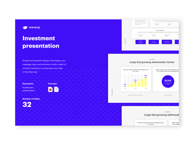 Investment pitch deck for crypto company company presentation funding graphic design pitchdeck presentation design cryptocurrency venture capital infographics investment powerpoint