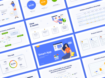 Free PowerPoint Pitch Deck Template business pitch deck design illustrations investor deck pitch startup deck keynote powerpoint template presentation