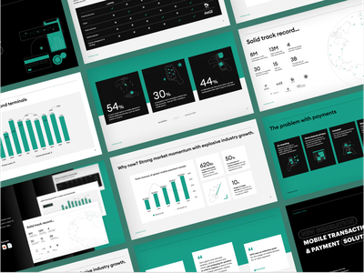 Investor Pitch Deck example keynote design business illustrations map graphs slide deck investor deck graphic design presentation design powerpoint pitch deck mobile payment
