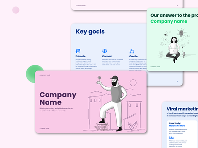 Nonprofit Pitch Deck healthcare illustrations investor pitch powerpoint keynote presentation investor deck presentation design pitch deck designer nonprofits npo ngo not for profit