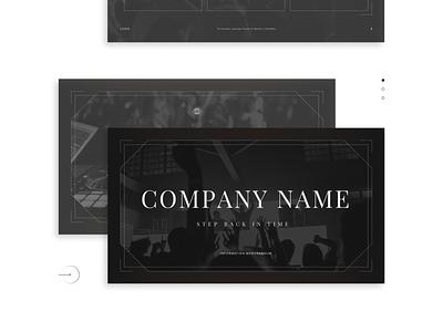Pitch Deck presentation graphic design clubs black and white classic data viz charts nightclub pitch deck investor pitch business presentation keynote presentation powerpoint investor deck presentation design