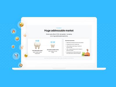 Investment deck data viz investor pitch graphic design apps dental app pitch deck keynote presentation startup pitch deck startup powerpoint investor deck presentation design