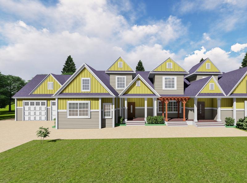 Architectural Design || American House Style || Rana Hasan photoshop landscape design house design gardening exterior design architecture design architecture 3d rendering
