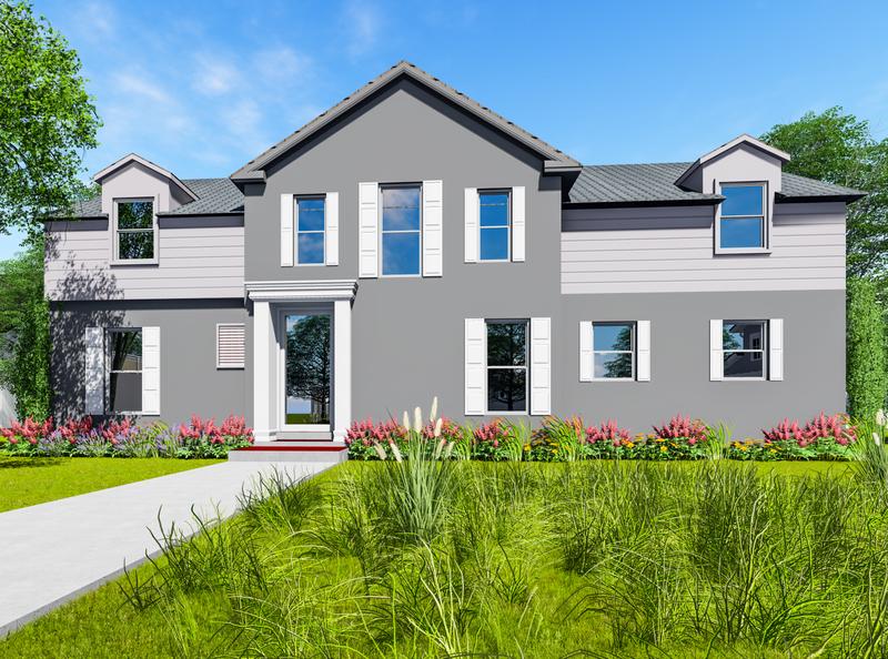 Texas House Render || Md Rana Hasan branding design photoshop landscape design house design gardening exterior design architecture design architecture 3d rendering