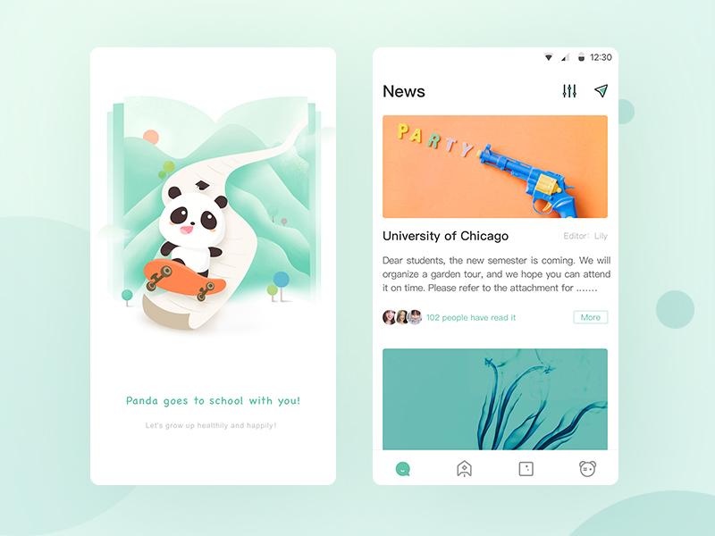 Education design app ui