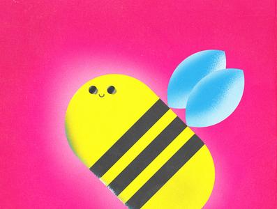 Bee-Shirt tshirt tshirtdesign tshirt art branding logo vector texture minimal illustration grain flat design