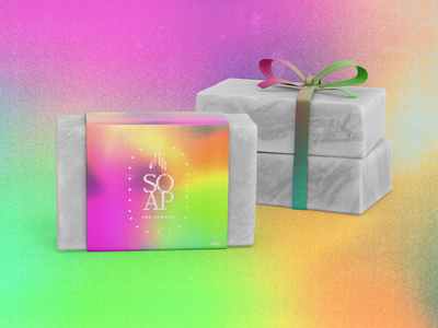 Packaging Concept: GitGud SOAP branding logo texture colourful logo minimal flat packaging design graphicdesign photoshop soaplabel soap labeldesign packagingdesign packaging gaming gitgud