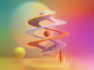 Spheres / Spirals texture specular glossy rainbow colours surreal cyclesrender blenderrender 3d abstract art abstract blender3d