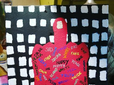 Hateful words design paintings painting art