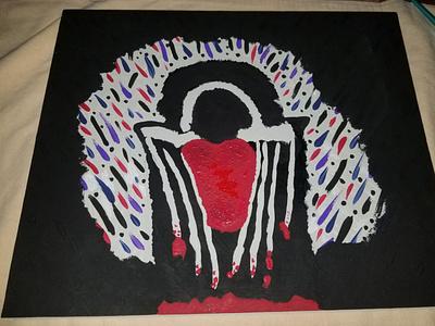 Guarded heart art hurt love heart painting