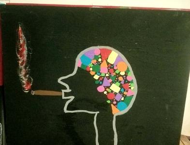 Anxiety life art mental health awareness painting mental health
