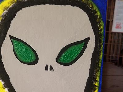 Alien syfy dark paintings artwork art painting creepy aliens
