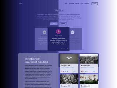 Symmetric Gradient Design 💜❤️ 💖 vector web ui webpage website uidesign