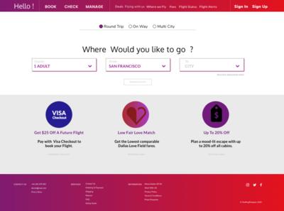 Fly ✈️ Webpage vector webpage website uidesign ui
