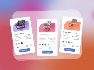 Furniture shop 🔥 Product card design clean design products page furniture chair card catalog minimalism online store product catalog e-commerce products list products cards design online purchase